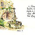 Crestet : Fontaine Place de l'Eglise