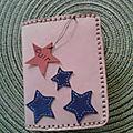 Porte-feuille étoiles bleues