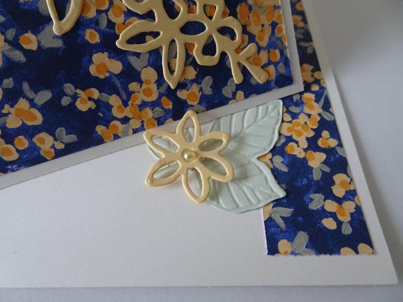 4d Carte rabat Impression printanière