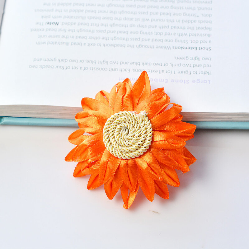 PandaHall-tutorials-on-sunflower-brooch-6
