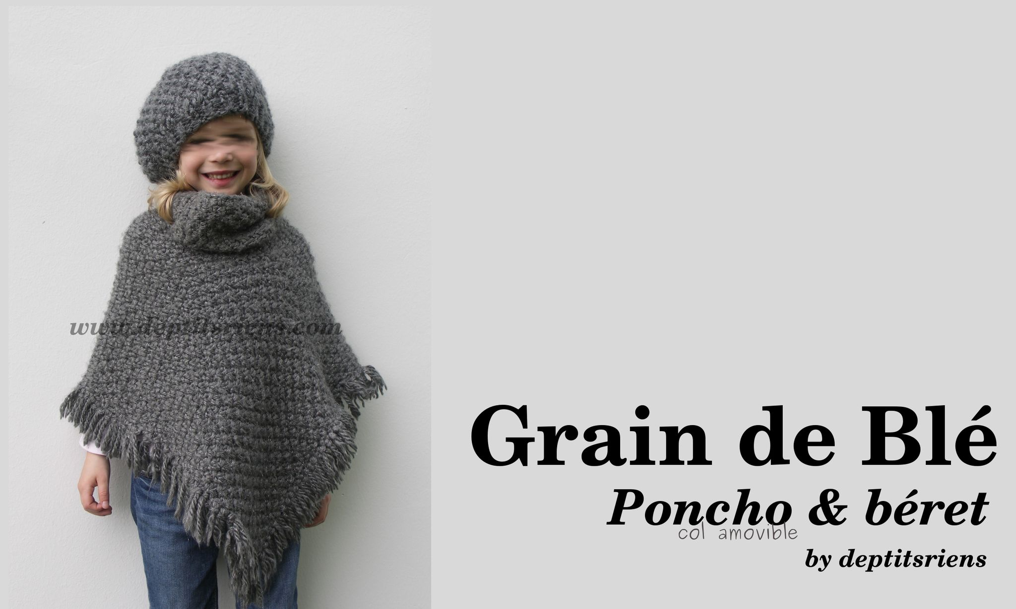 15817bed55a1 Ensemble Grain blé pour fillette taille 6 8 ans - Créa Tricot