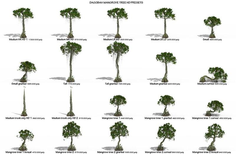 07 Dagobah mangrove tree rhyzophora 3D Star Wars C4D max obj 3ds Presets