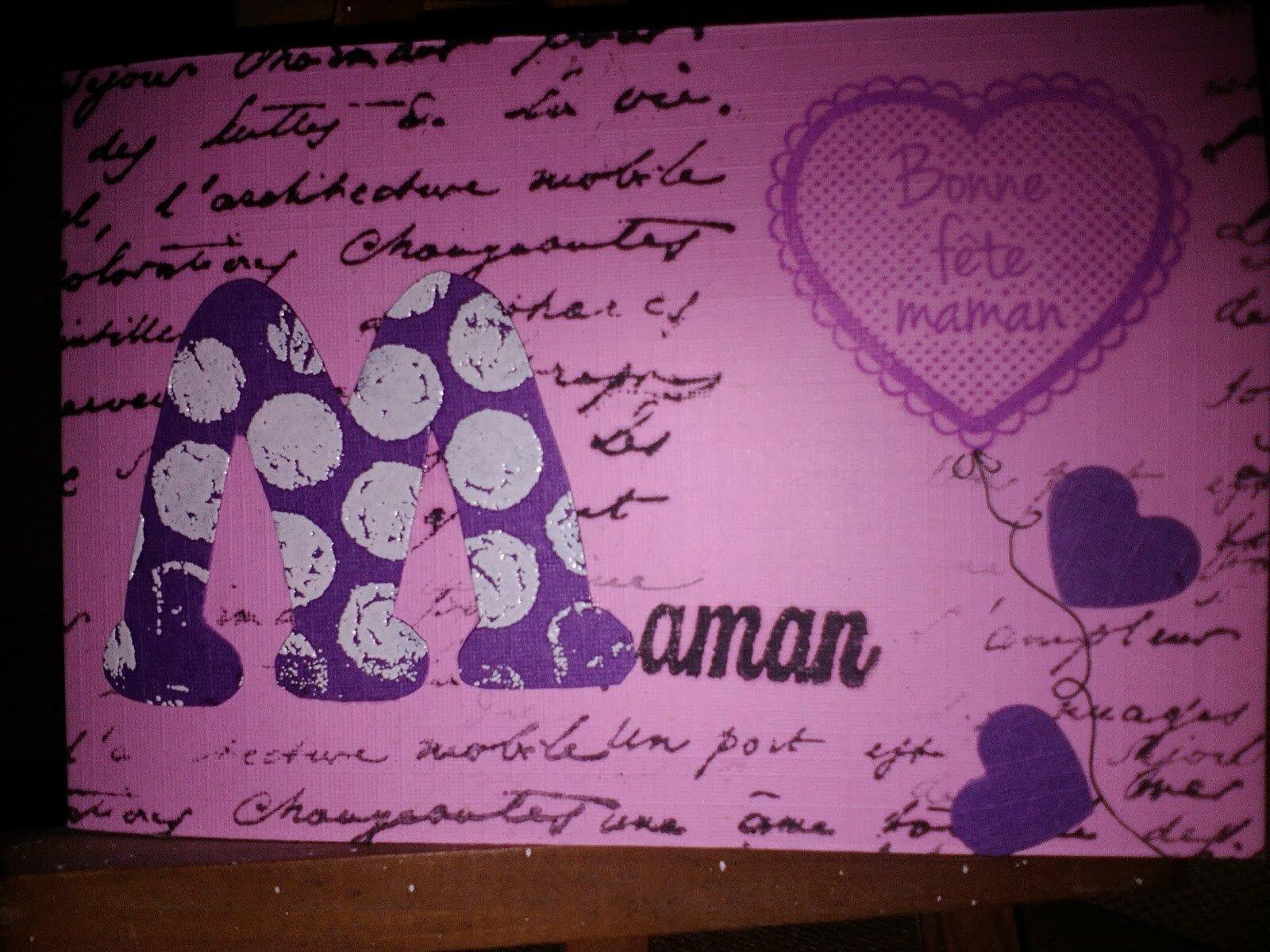 Rose et violet pour la fête des mères