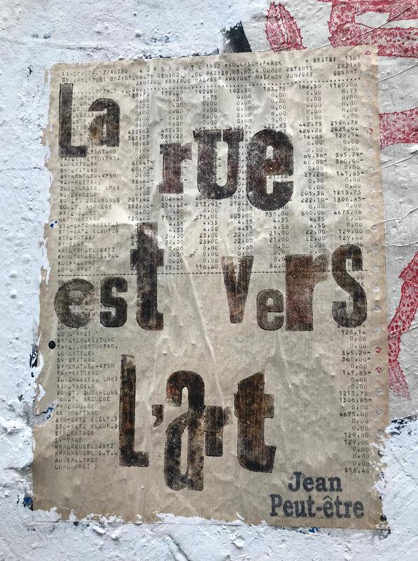 La rue est vers l'art