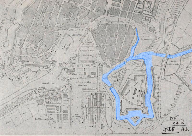 Carte Tracé du canal Marans la Rochelle
