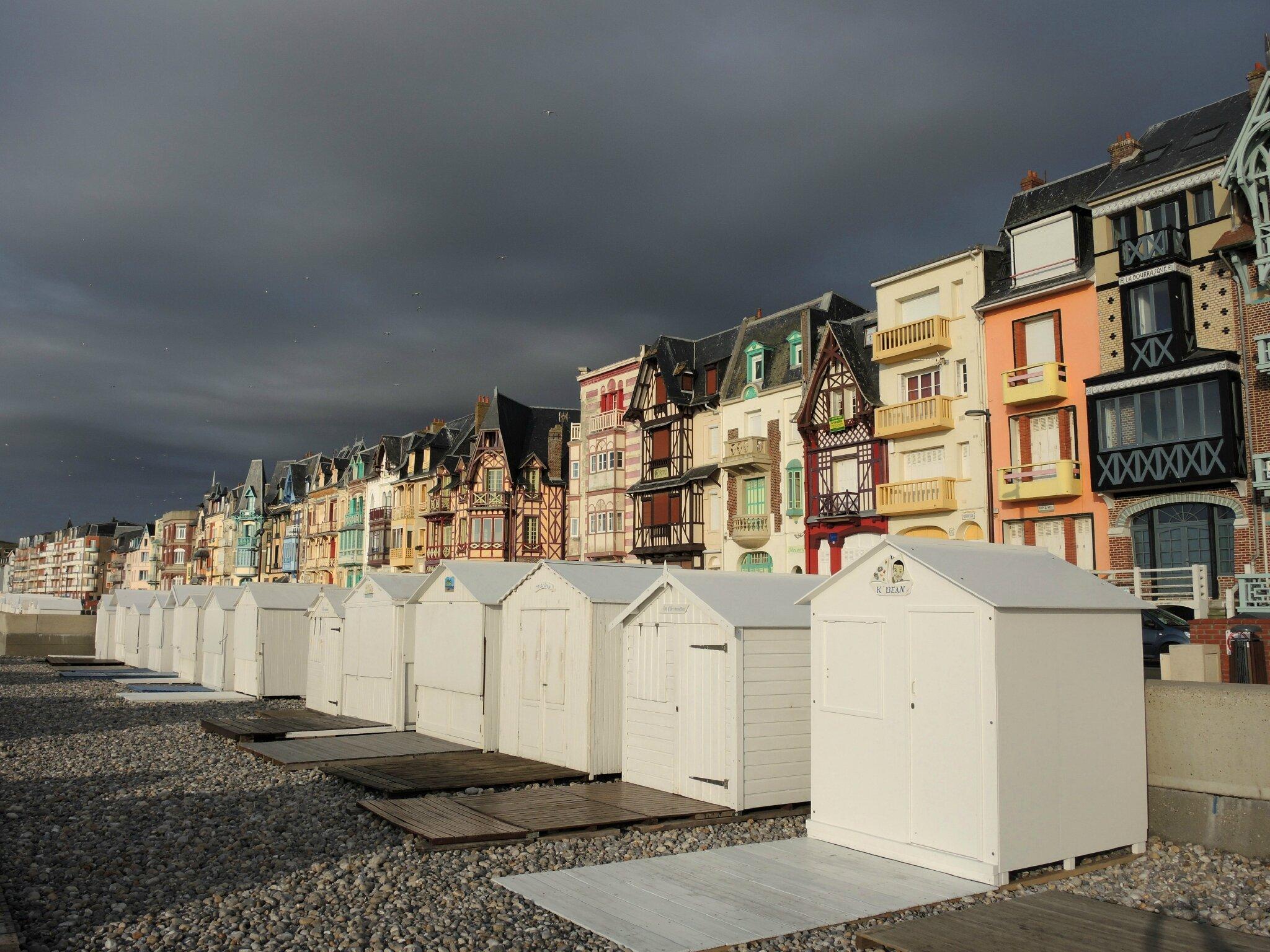 Mers-les-Bains, cabines de plage
