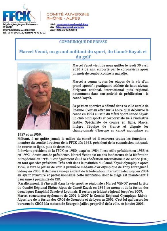 Communiqué de presse Marcel Venot page 1:2