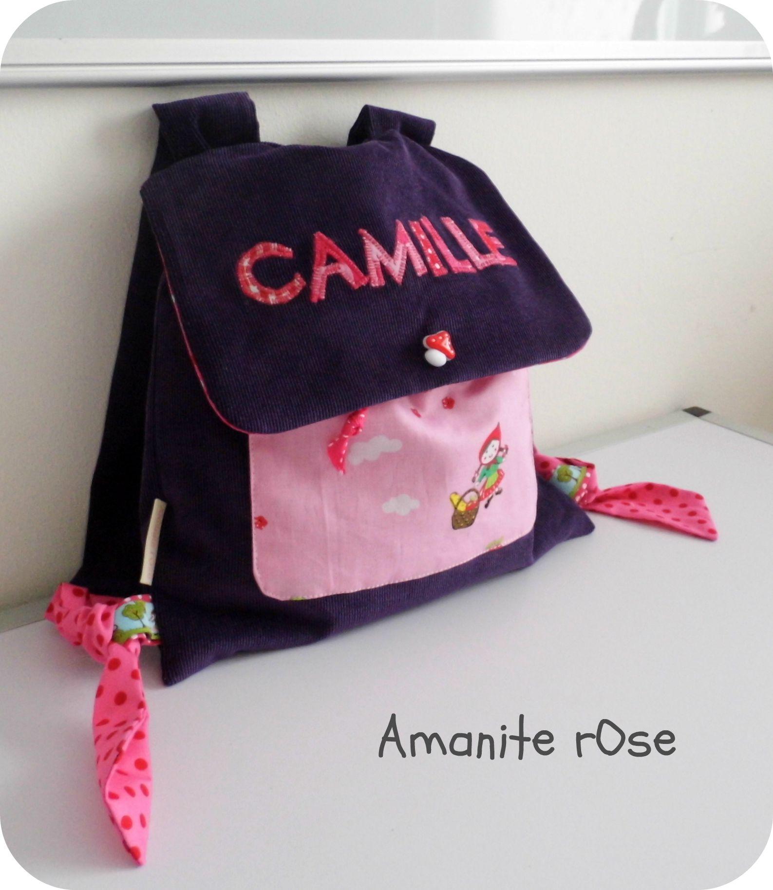 Sac à dos pour l'école maternelle de Camille