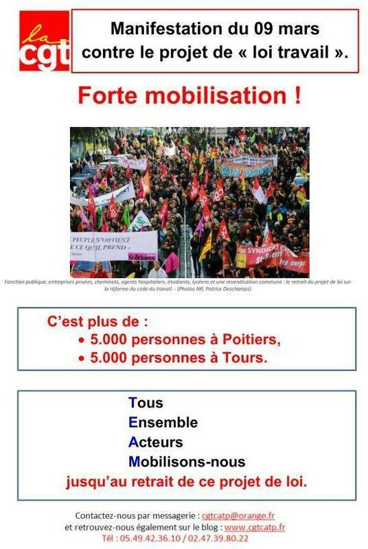 Loi El Khomri grève 9 mars - le CR - Image JPEG