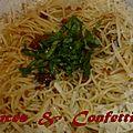 Spaguettis a la poutargue ..