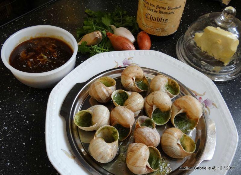 Escargots de Bourgogne à la chablisienne