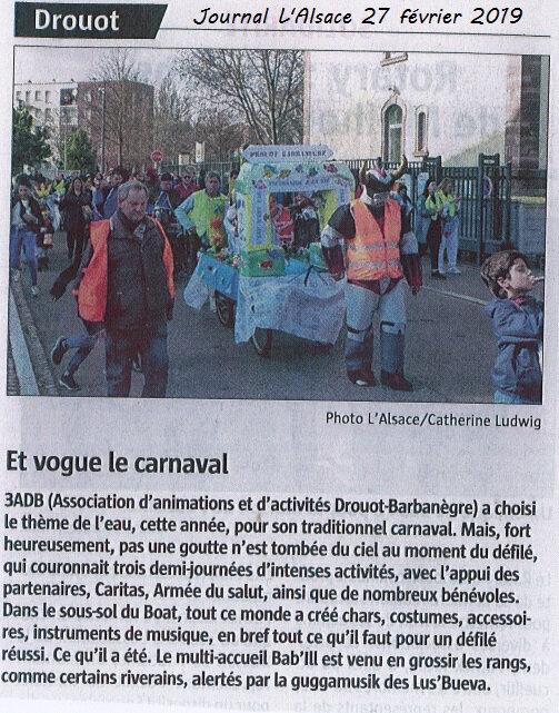Quartier Drouot - Carnaval journal L'Alsace