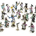 A group of meissen monkey band figures, late 19th century