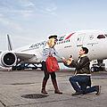 Le boeing 787 d'air france prend la pose avec ses premiers passagers devant l'objectif de sacha goldberger !