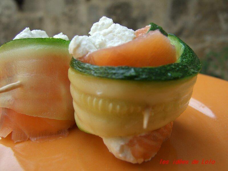 bouchées courgettes saumon (entrée, 07.08.2007)