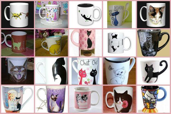 arts de la table mugs chat