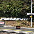 Une gare à wicklow donc sans spectateur (irlande)