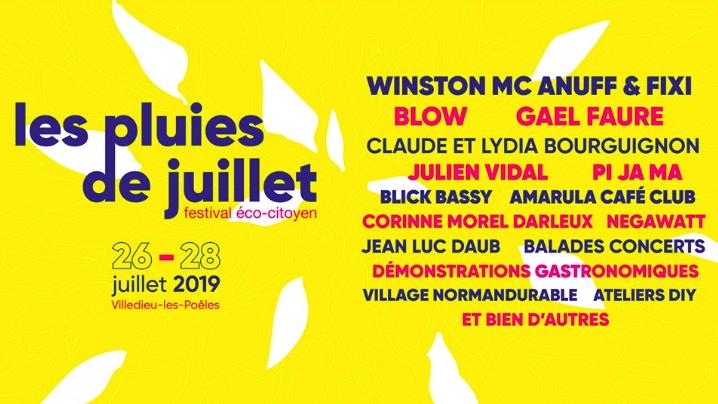 « Les Pluies de juillet », le festival éco-citoyen par excellence - Villedieu-les-Poêles - 26>28 juillet 2019