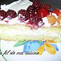 Gâteau fraises/framboises