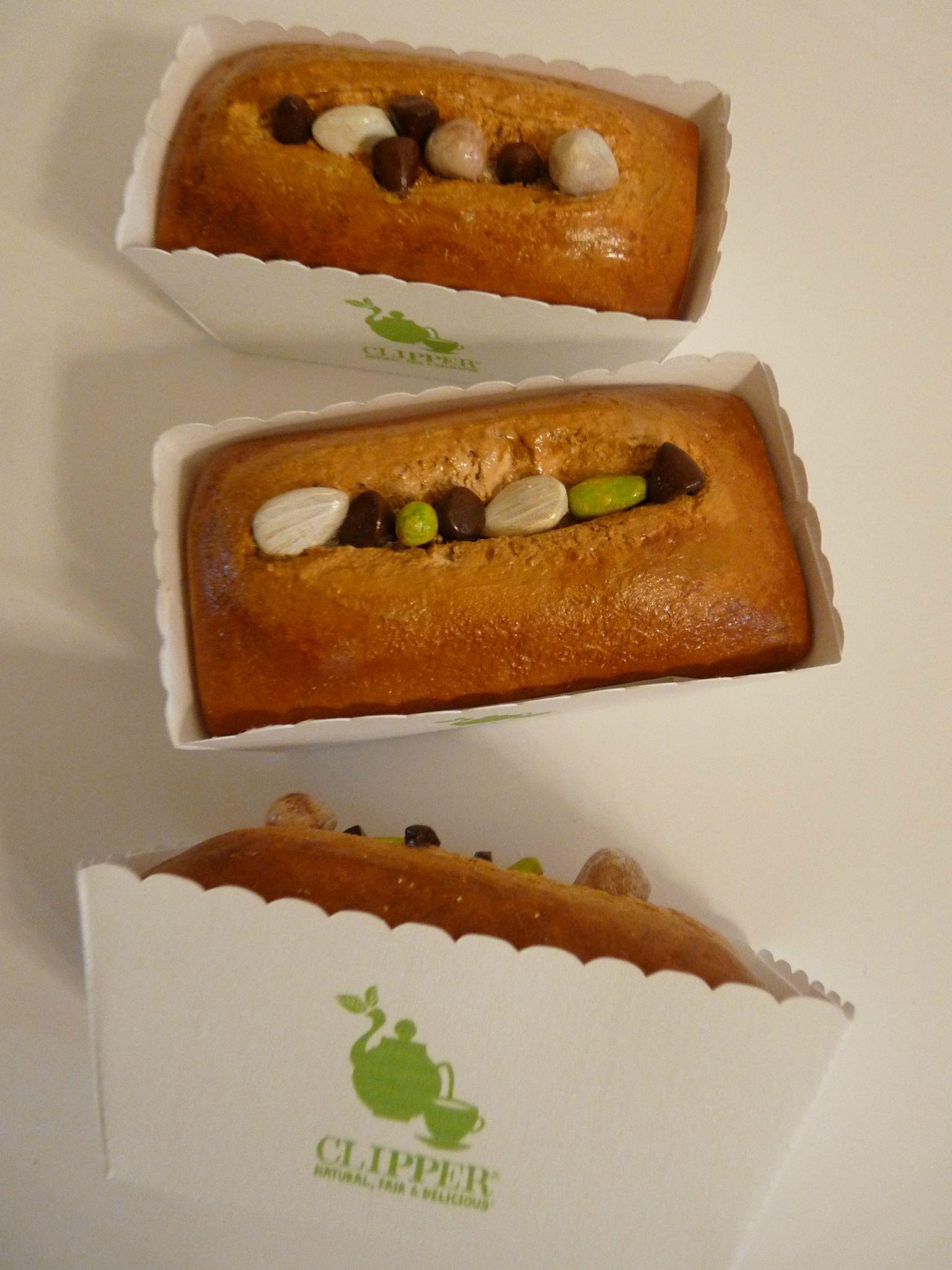 Petits cakes, caissettes personnalisées, pour Clipper