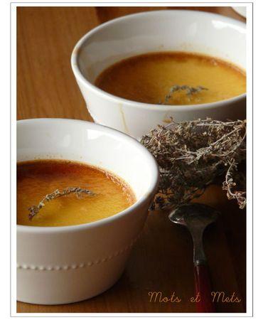 Crème au thym et au miel 1