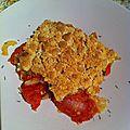 Crumble de tomates, oignons, parmesan
