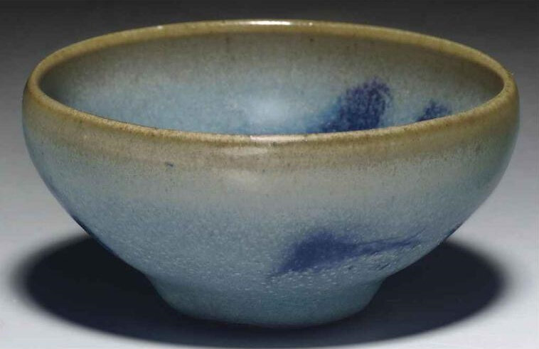 A small Junyao purple-splashed 'bubble' bowl, Song-Jin dynasty, 11th-12th century