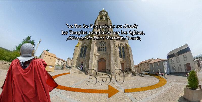 La fin du Paganisme en Gaule, les Temples remplacés par les églises - Saint-Michel-Mont-Mercure