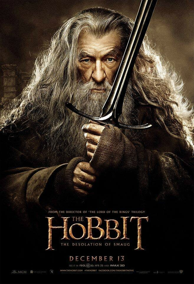 The Hobbit Desolation of Smaug Gandalf poster