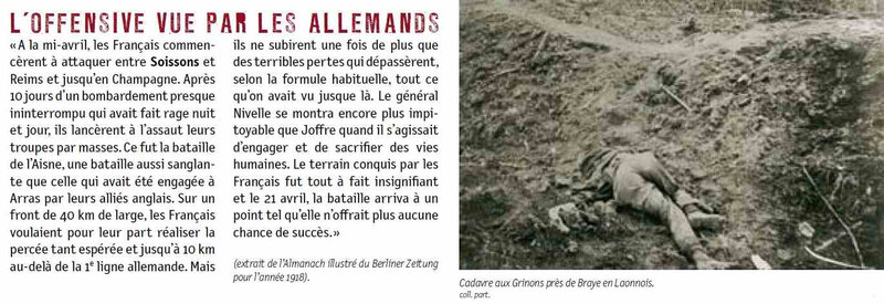 Chemin des dames offensive des All