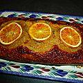 Cake au potiron noisette et oranges