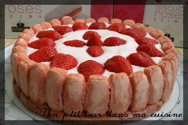 Charlotte fraises biscuits reims2