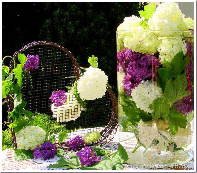 Bouquet de boule de neige et lilas (14)