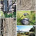 Balade à la porte ouverte au jartdin de st michel en grèves 22300 - sculptures et plantes juin 2015