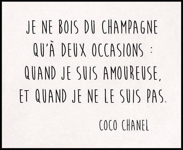 coco chanel champagne
