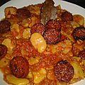 Fèves mijotées au chorizo 10 pp pour 2 pers ou 5 pp pour 4 pers