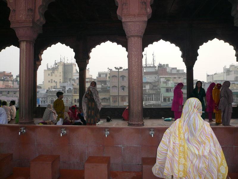 Delhi - Grande mosqee quartier Old Delhi