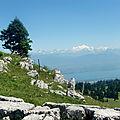 Les 2 pieds dans le Jura... devant le Léman et Mont Blanc
