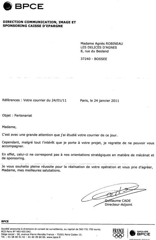 exemple lettre de sponsoring enfin une réponse de mes lettres de demande de sponsoring :   LES  exemple lettre de sponsoring