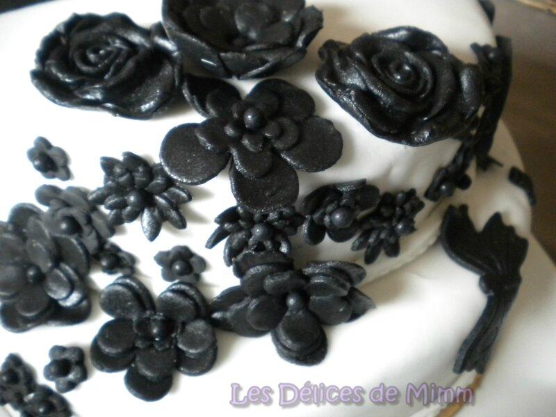 Gâteau Notes de Musique en noir et blanc 9