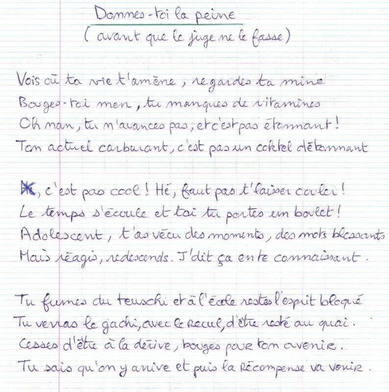 Poème En Forme De Lettre à Un Jeune Délinquant Photos Et