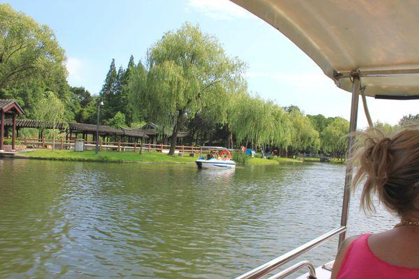 Maman Promenade en Barque Suzhou