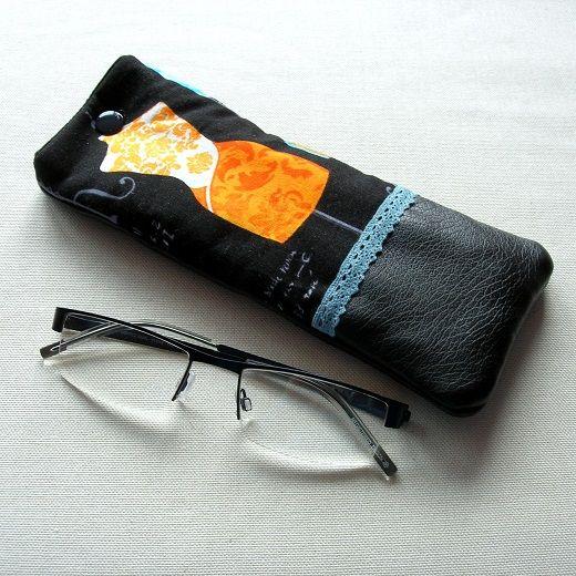 Clocréations-Etui lunettes-mannequin jaune1