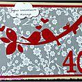 carte 40 ans de mariage zozios