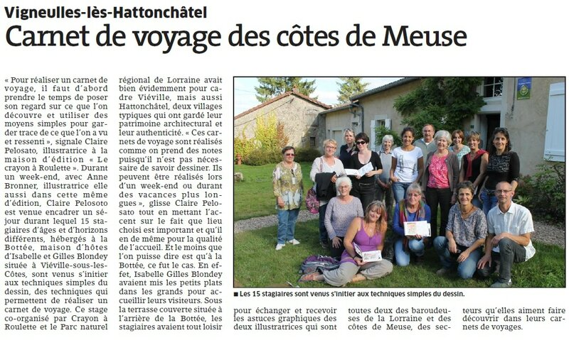 Article stage Carnet septembre