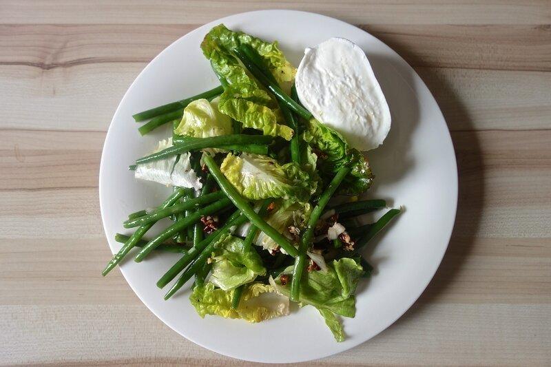 salade de haricots verts aux noix de pécan et vinaigrette au sirop d'érable