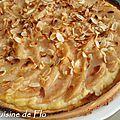 Tarte bourdaloue (poires-amande)