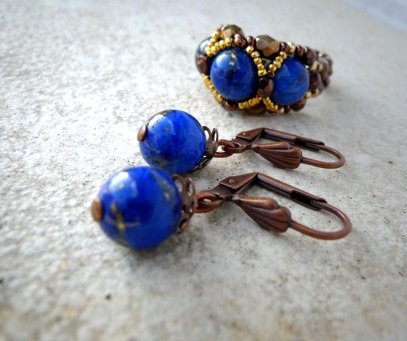 Boucle d'Oreille Lapis Lazuli