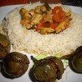 Curry de moules et drôles de petites aubergines indiennes