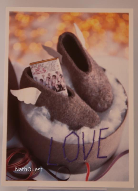 carte brodée love chaussons MCI 20
